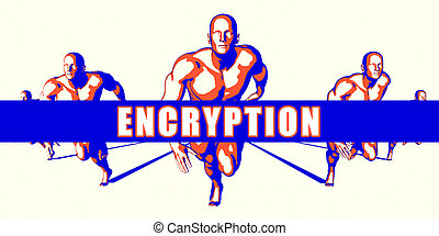 Encryption as a Competition Concept Illustration Art