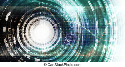 Security System Technology with Binary Data Being Scanned