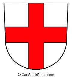 Coat of arms of Freiburg im Breisgau, Germany. Vector...