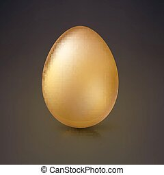 Golden Easter egg, vector illustration. - Golden egg,...
