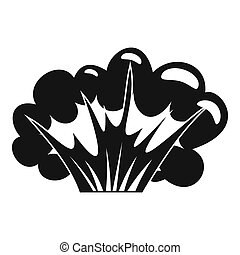 High powered explosion icon, simple style - High powered...