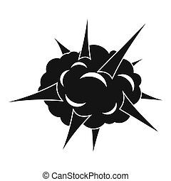 Power explosion icon, simple style - Power explosion icon....