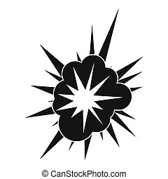 Nucleate explosion icon, simple style - Nucleate explosion...