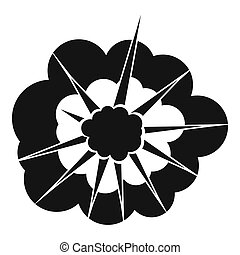 Cloudy explosion icon, simple style - Cloudy explosion icon....