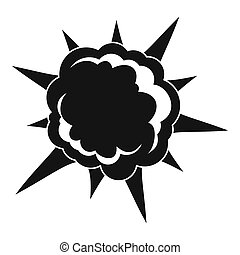 Powerful explosion icon, simple style - Powerful explosion...