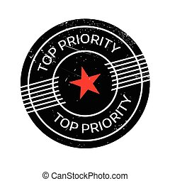 Top Priority rubber stamp. Grunge design with dust...