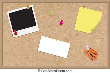 Cork Board with Blank Elements