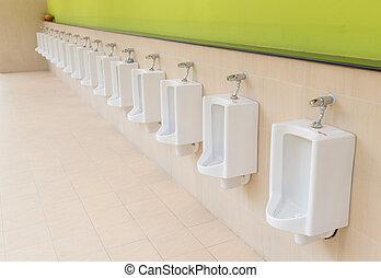 Out door urinals men public toilet .