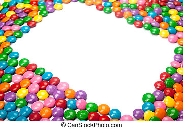 Colorful Chocolate Candy Frame