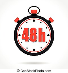 forty eight hours stopwatch - Illustration of forty eight...