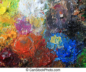 oil paint - Background from an oil paint