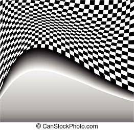 Abstract background 3D black and white, vector illustration.