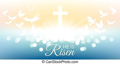 Shining and  He is risen text for Easter day