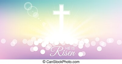 Shining with He is risen text for Easter day
