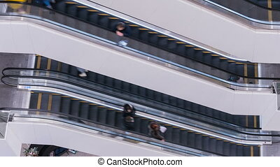 Escalator in the shopping center