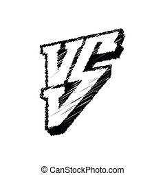 Symbol competition VS vector illustration. Versus logo isolated on white background.