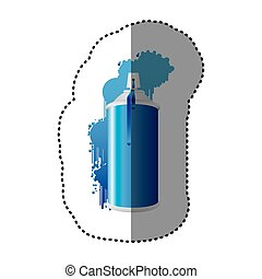 blue can aerosol sprays icon