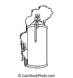 figure can aerosol sprays icon