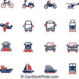 transport icon set - transport web icons for user interface...