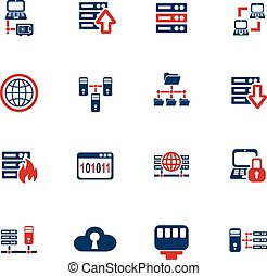 server icon set - server web icons for user interface design