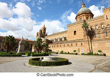 Sicilia - Palermo, Sicily island in Italy Famous cathedral...