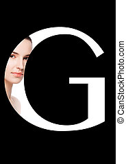 G letter beauty makeup girl creative fashion font - G letter...