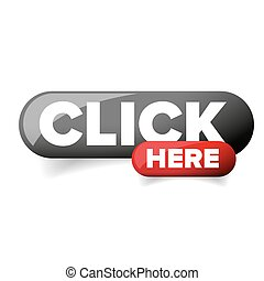 Click Here button vector glossy
