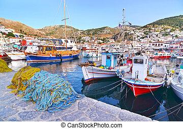 idra, grecia, Porto, isola