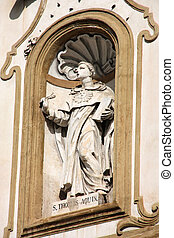 Thomas Aquinas - Saint Thomas Aquinas - statue in facade of...