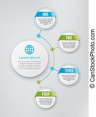 Infographics with steps or options - Infographics flower...