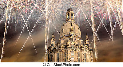 Dresden Frauenkirche ( literally Church of Our Lady)and...