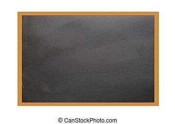 teaching blackboard - school blackboard on white background