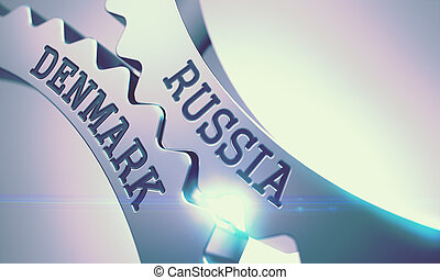 Russia Denmark - Message on the Mechanism of Shiny Metal...