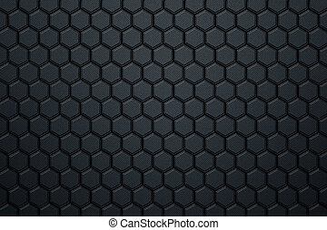 blue carbon fiber hexagon pattern.