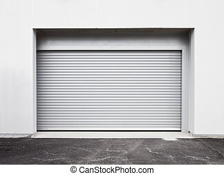 Garage door at a modern building