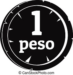 Peso icon, simple style - Peso icon. Simple illustration of...