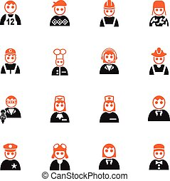 occupation icon set - occupation web icons for user...