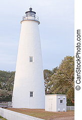 Historic Ocracoke Lighthouse Outer Banks OBX NC US -...