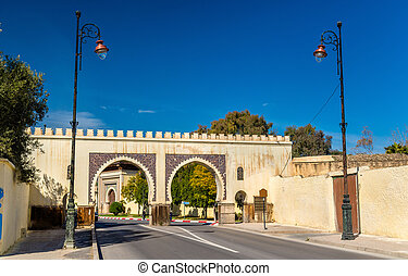 Bab Riafa, a gate of Fes, Morocco - Bab Riafa, a gate of Fes...