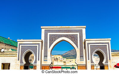 New Rcif Gate in Medina of Fes, Morocco - New Rcif Gate in...
