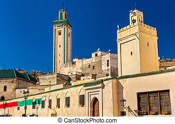 Rcif Mosque in Medina of Fes, Morocco - View of Rcif Mosque...