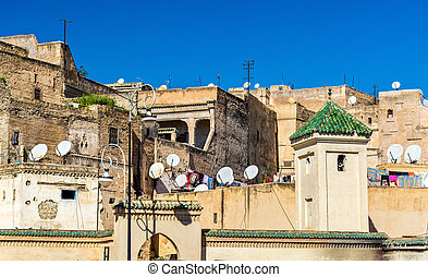 Fes el Bali, the oldest walled part of Fes in Morocco - Fes...