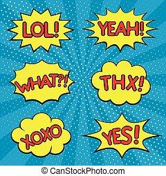 Speech cloud set - Dialogue and humour speech cloud set. Lol...