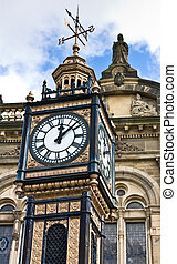 Little ben - Gateshead old town hall clock known as Little...