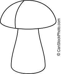 Fungus boletus icon, outline style - Fungus boletus icon....