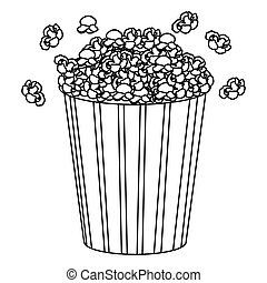 movie pop corn icon, vector illustraction design image