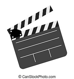 color clapper board film icon