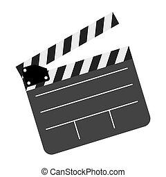 color clapper board film icon