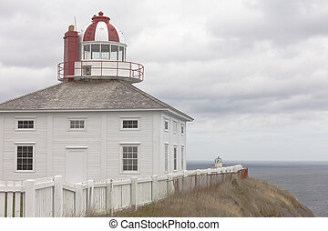 Newfoundland NL Historic Cape Spear Lighthouse - Wooden old...