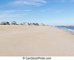 Beach vacation village Hatteras Island OBX NC US - Sandy...